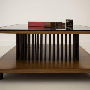 Tavolino basso vetro nero