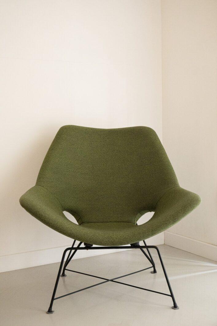 sedia verde augusto bozzi frontale